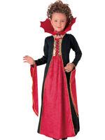 Child Gothic Vampiress Vampire Halloween Fancy Dress Costume Girls