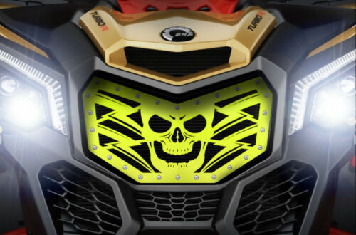 LIME SQUEEZE Custom ATV Steel HAVOC Grille for CanAm Maverick X3 Grill 16