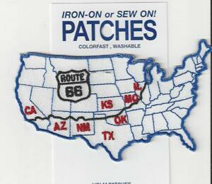 Map Of California Route 66.Details About Map Of Route 66 Illinois To California Souvenir Patch