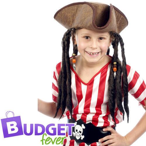 Pirata Cappello Con Capelli Bambini Ragazzi Costume Pirata Jack Sparrow Costume Accessorio