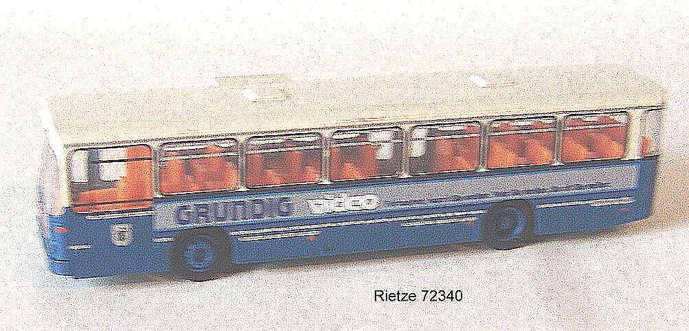 Rietze H0 72340 Man Bus Sl 200 Grundig from Munich Verkehrsgesellschaft Nip