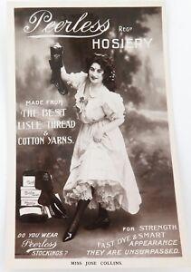 RARE-EARLY-1900s-PEERLESS-HOSIERY-AUSTRALIAN-WOOL-034-REAL-PHOTO-POSTCARD-1