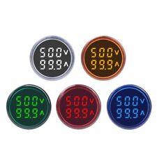 New Listingdigital Amperemeter Voltmeter Ammeter Round Led Dual Display 60 500v 100a Meter