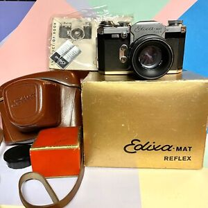 Splendido-Edixa-Mat-FLEX-A-35mm-Kit-Fotocamera-Reflex-testato-Lomo-vintage-funzionante