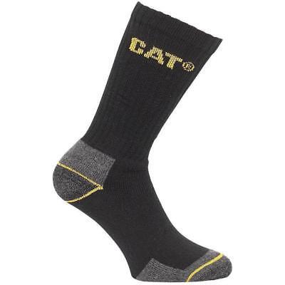 CAT Caterpillar Crew Workwear Socks 3 Pair Pack Sizes 6-11 & 11-14