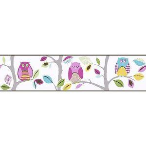 Bright-Owls-Frises-Autocollantes-8955-23-A-S-Creation-Neuf