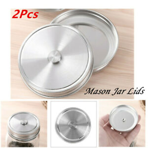 US 8Pcs Lids Kits/_70//86mm Screw Caps Band//Ring with Discs for Mason//Canning Jars