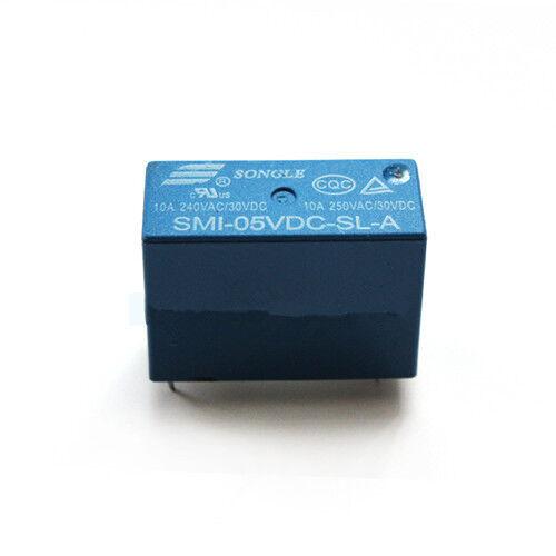 10pcs 4pins 5V SMI-05VDC-SL-A 10A 250VAC SONGLE Relay Original