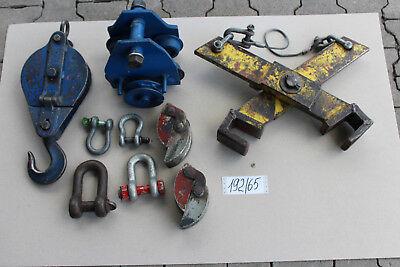 Ersatzteile, Teile & Zubehör Teile Hebetechnik Laufkatze Verladezange Umlenkrolle Schäkel 192/65 1 Set Ver Baugewerbe