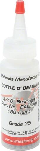 """Wheels Manufacturing Grade 25 3//16/"""" Loose Ball Bearing Bottle of 150"""