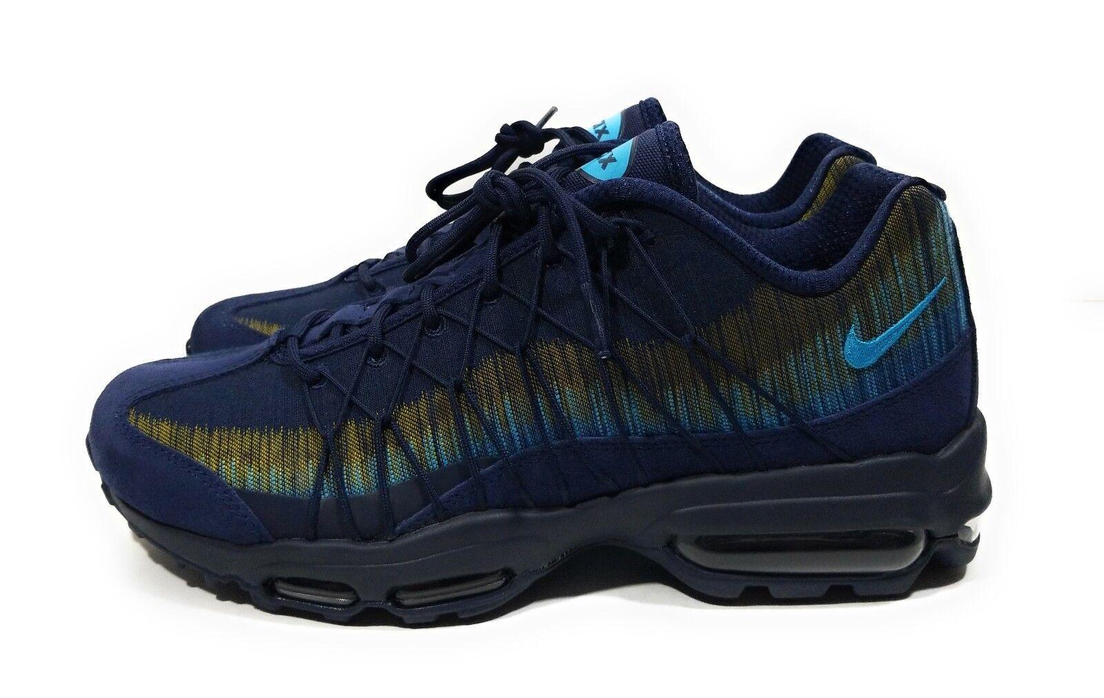 Nike Air Max 95 Ultra Jacquard Mens Running shoes Navy bluee Size 9