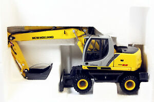 1-50-New-Holland-MH5-6-Wheeled-Excavators-Model-by-ROS-Diecast-model