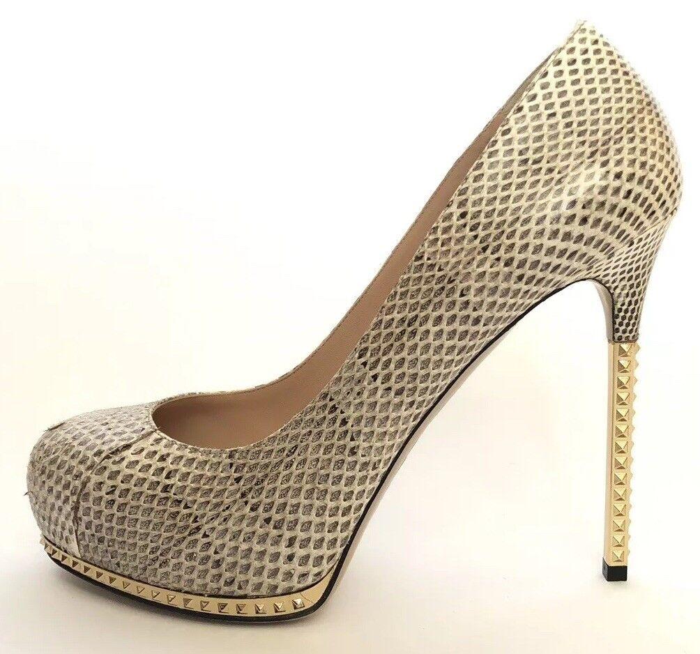 Valentino Garavanni Donne  Scarpe Dimensioni 37 NIB Snake Print Rock Studs Heels  sport dello shopping online