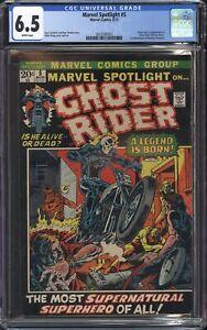 MARVEL SPOTLIGHT #5 (1972 Marvel Comics) CGC 6.5 F+ FIRST GHOST RIDER