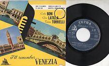 CARLA BONI GINO LATILLA TONINA TORRIELLI  raro disco EP 45 giri MADE in ITALY
