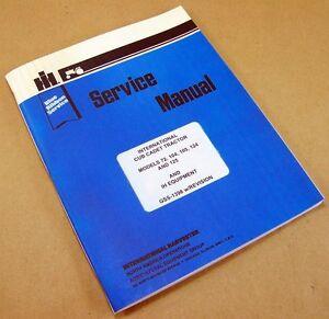 CUB-CADET-INTERNATIONAL-72-104-SERVICE-REPAIR-SHOP-LAWN-GARDEN-TRACTOR-MANUAL