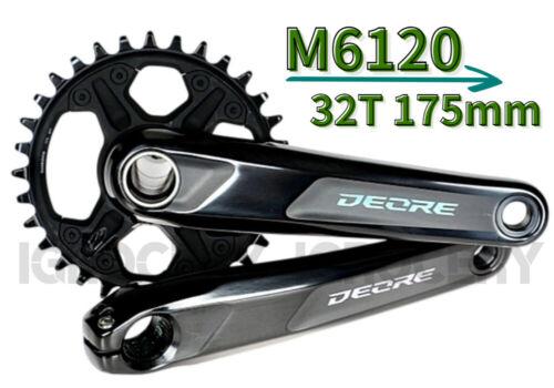 Shimano Deore FC-M6120 12 Spd Black Boost 32T//175mm Crankset New