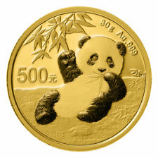2020 China 30 g Gold Panda ¥500 Coin GEM BU SKU59886