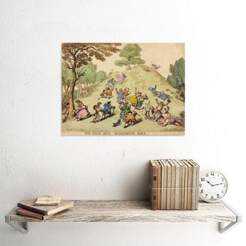 THOMAS ROWLANDSON BRITISH ONE TREE HILL GREENWICH PARK ART PRINT POSTER BB6439B