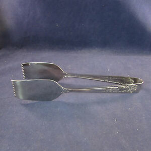 Reed-amp-Barton-Stainless-Flatware-RENAISSANCE-Salad-Serving-Tongs