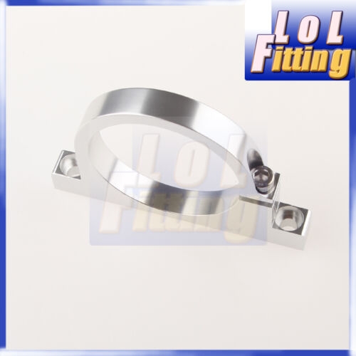 61mm ID Aluminium Fuel Pump Bracket Billet Filter Clamp Cradle Bosch 044 Silver