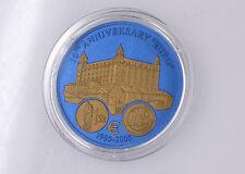 "5 Dollar Liberia 2006 Niob Bicolor ""10 Jahre Euro"" Slowakei"