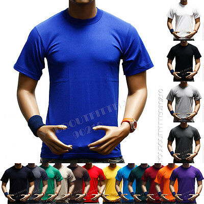 Men T-Shirt HEAVY WEIGHT Plain Crew Neck Fashion Camo Military Hunting Tee  S-7X
