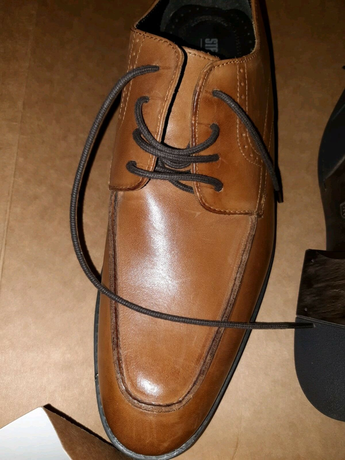 Stacy Adams Mens Dress shoes Tan Brown Leather Lace Up Size 9 M