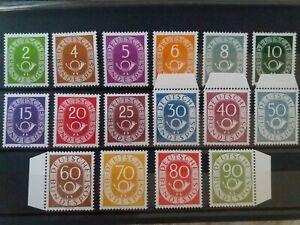 BRD-1951-Posthorn-Satz-Mi-Nr-123-138-einwandfrei-postfrische-Optik-Top