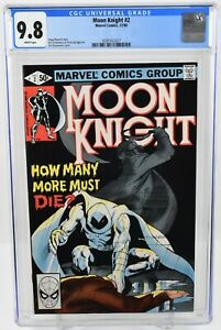 Moon Knight #2 (1980) CGC Graded 9.8 White Pages Marvel Comics