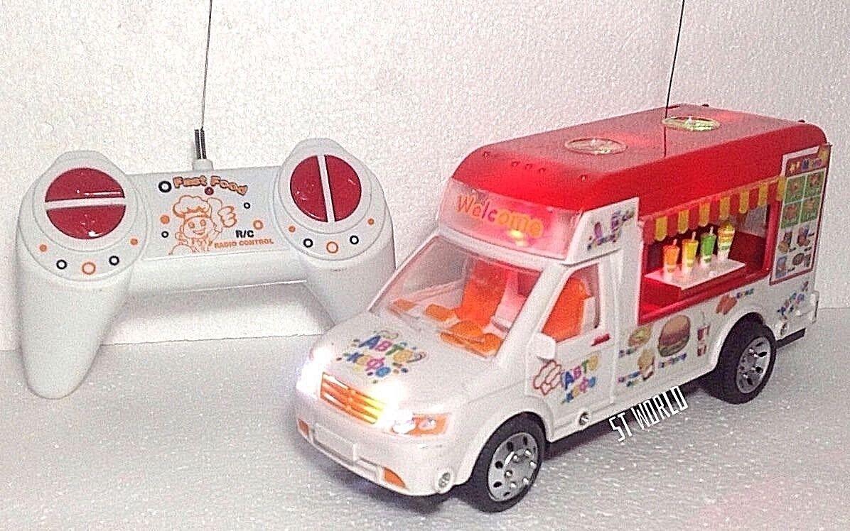 ICE Cream Van De Radio Control Remoto LED R C C C música y luces Dynamic Speed van ad6910