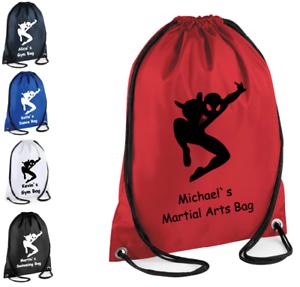 PERSONALISED SPIDER MAN Drawstring Gym Martial arts Judo School PE Sport Girls
