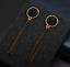 Fashion Ohrstecker Tropfen Ohrring silber plattiert Schwarz Gold Hängend Style