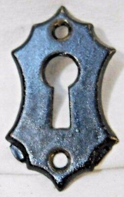 1800s Antique DOOR Knob Plate VICTORIAN Style Original Solid Brass Finish ORNATE