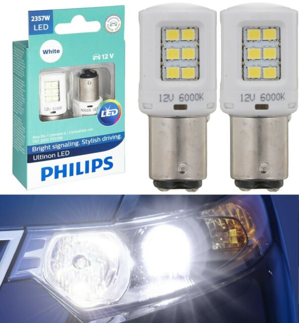 Philips Ultinon LED Light 2357 White 6000K Two Bulbs Stop Brake Replace Stock EO