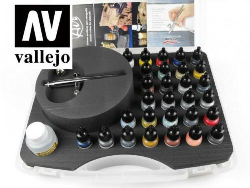 Vallejo Game Color Model Air Boxed Set: Basic with Airbrush 29 Colors VAL 71172