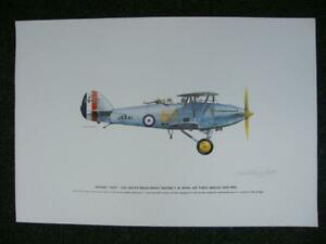 Keith Broomfield Large Signed Print - Hawker Hart