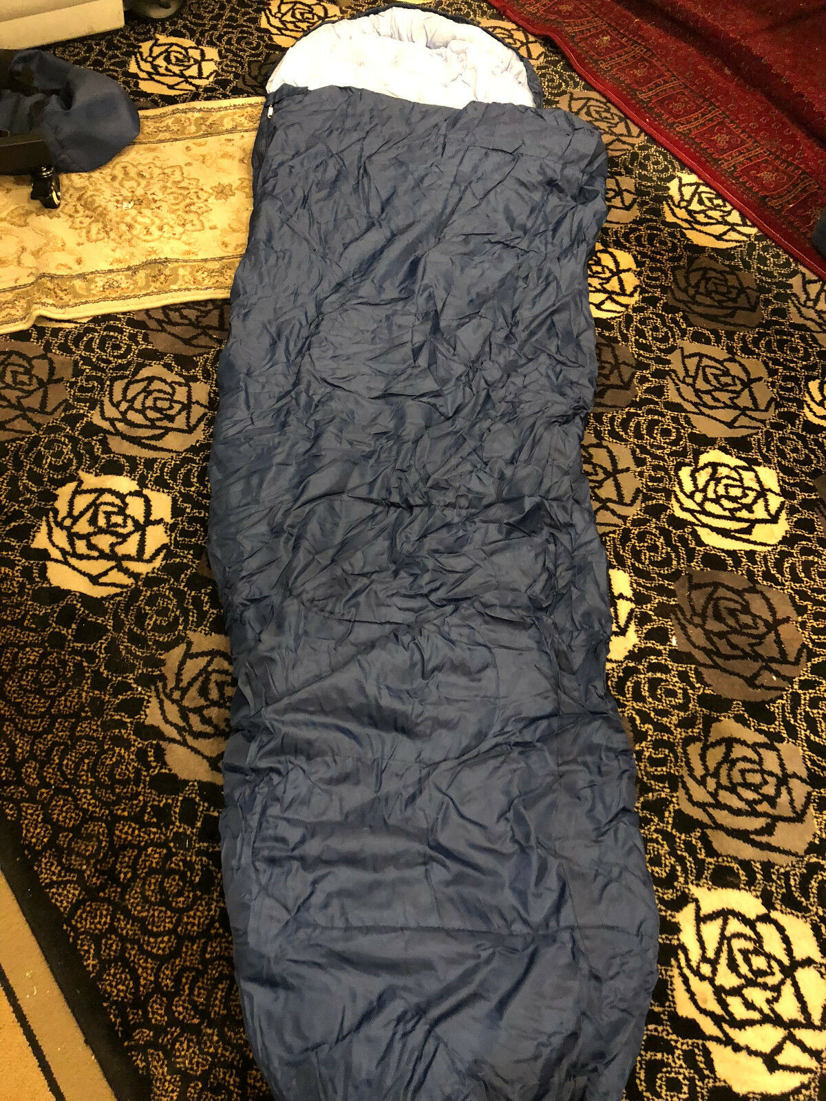 NWOT's Mil-Spec  bluee sleeping Bag w  Hood Cover 90 x 33 x 21 w  Travel Soft Case  online outlet sale