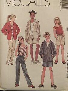 McCALLS-2199-Girls-Jacket-Top-Tank-Top-Skirt-Pant-Shorts-PATTERN-7-8-10-12-14-16