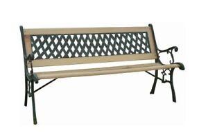 Mobili Da Giardino In Ghisa.2 Seater Outdoor Cast Iron Wooden Garden Bench