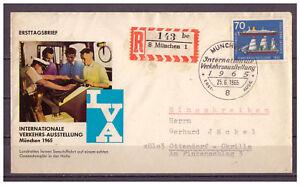 Rfa-FDC-Inscrire-Iva-Minr-474-Esst-25-06-1965-Veritable-Gelaufen