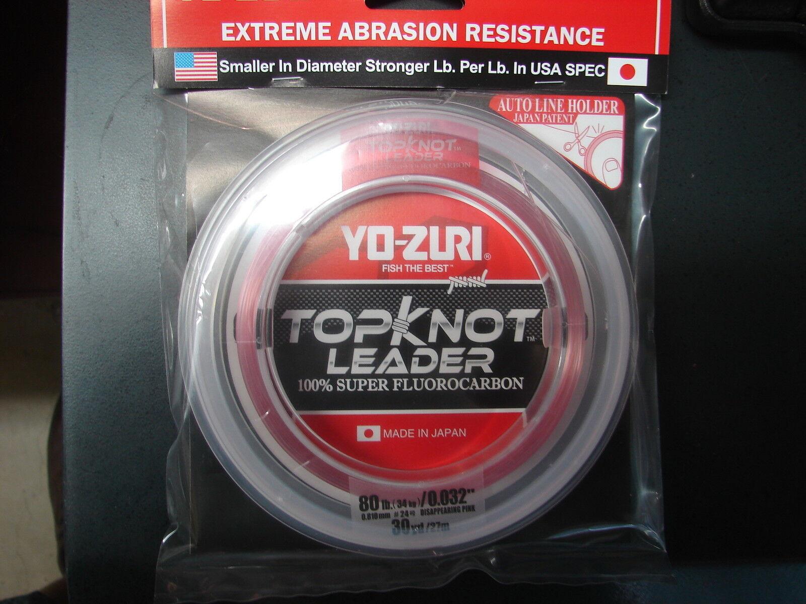 YO-ZURI TOPKNOT LEADER SUPER FLUgoldCARBON 80lb 30yd R1235-DP Disappearing Pink