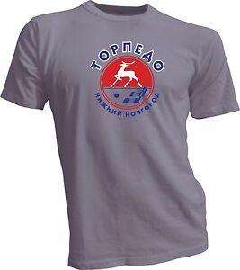 Torpedo Nizhny Novgorod KHL Russian Professional Hockey Gray T-Shirt NEW Russia