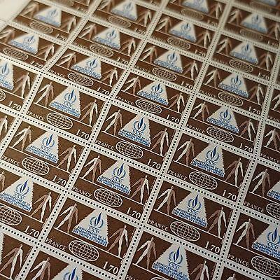 Feuille Sheet Briefmarke Europa rechte De L'herren Nr.2027 X50 1978 Neuf Luxe Mnh Briefmarken