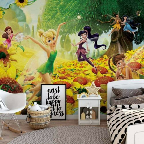 Girl/'s bedroom photo wallpaper 254x184cm Disney Fairies Tinker Bell wall murals