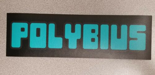 Buy 3 stickers, GET ONE FREE! marquee decal 3 x 10. Polybius Urban Legend