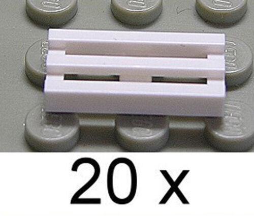 LEGO Fliese 1x2 weiß 20 x Gitter Gitterfliese 2412b NEUWARE