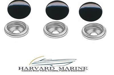 50 BOAT CANVAS SNAPS BLACK LONG POST W//SOCKETS PRO GRADE CARPET ~ THICK MATERIAL
