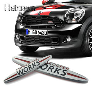 Auto-Front-Grill-Metal-Emblem-Abzeichen-Aufkleber-Logo-fuer-MINI-JOHN-COOPER-WORK