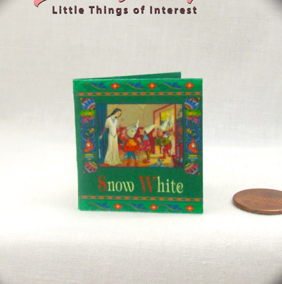 1:6 Scale Miniature ILLUSTRATED SNOW WHITE Book Readable Book Barbie Blythe